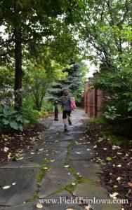 Children running on stone path at Courtyard By Marriott in Roseville MN