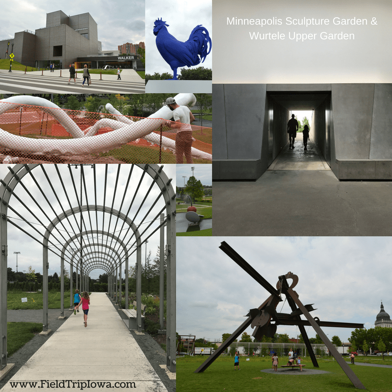 Several pictures of the MINNEAPOLIS SCULPTURE GARDEN & WURTELE UPPER GARDEN in the Twin Cities MN