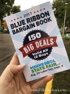 Blue Ribbbon Bargain Book at Minnesota State Fair