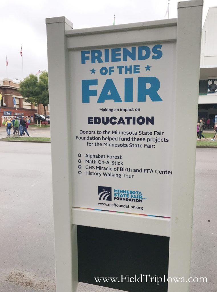 Sign for Minnesota State Fair Foundation