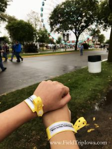 Kids with I.D. bracelets on at Minnesota State Fair