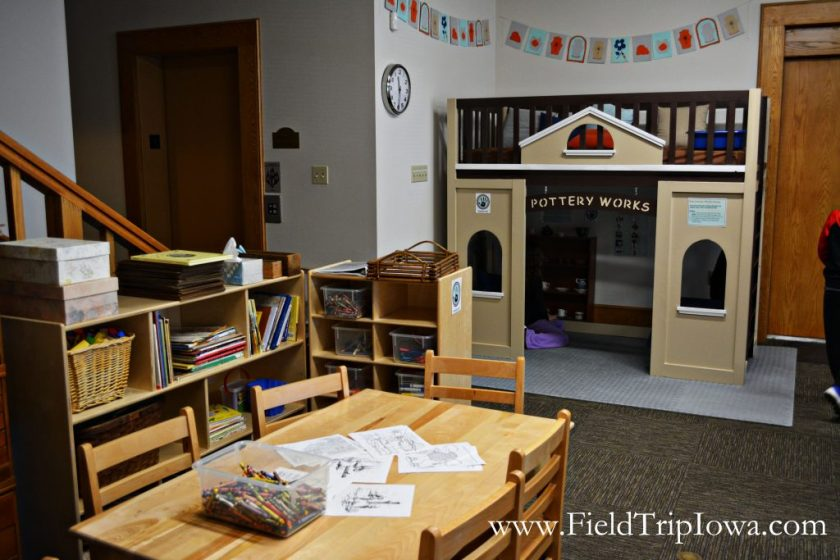 Children's play area at Cedar Falls Historical Society in Iowa