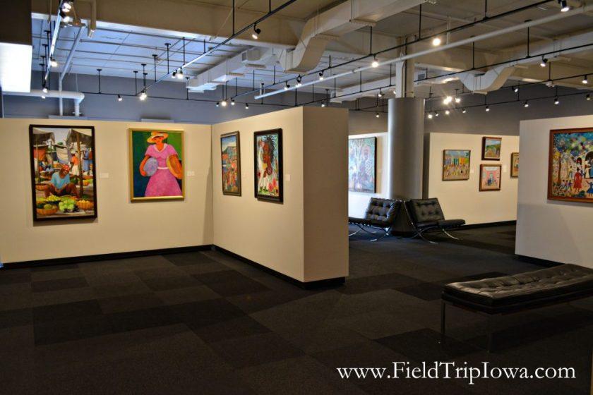 Art displays at Phelps Youth Pavilion in Waterloo Iowa