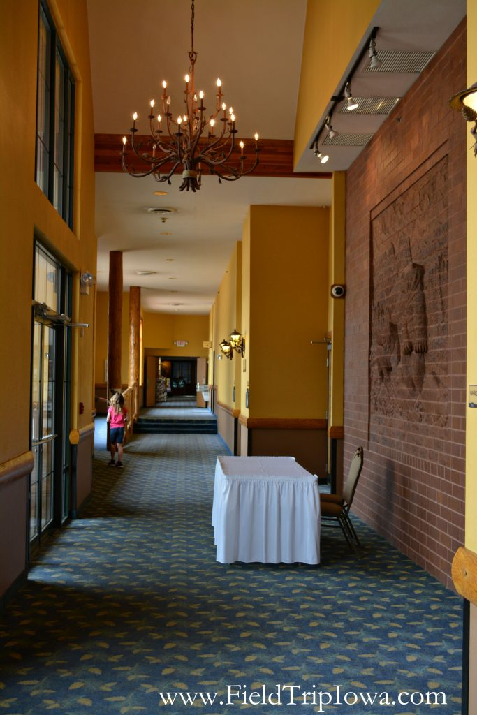 Conference center hallway at Grizzly Jack's Grand Bear Resort and Indoor Waterpark in Utica, IL