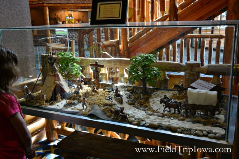 Display in lobby at Grizzly Jack's Grand Bear Resort and Indoor Waterpark in Utica, IL