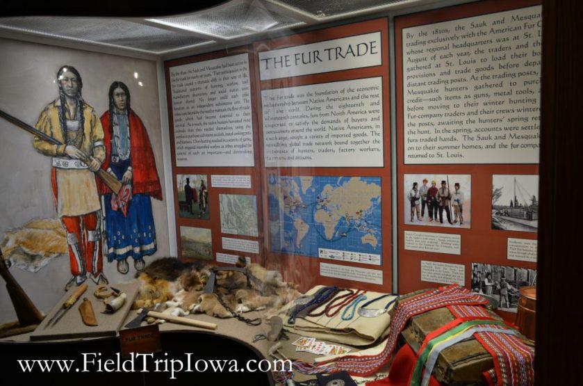 Fur Trade display at John Hauberg Indian Museum