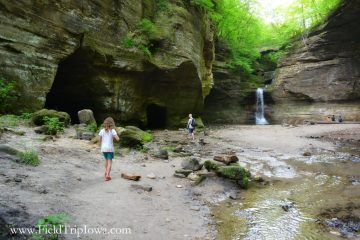 Canyon at Cascade Falls in Matthiessen State Park, IL