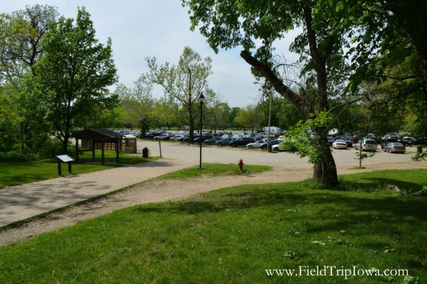 Visitor Center parking lot in Starved Rock State Park, IL
