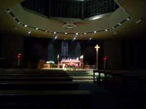Quiet church at night