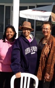 Brenda Box Johnson, center, with Geri Coleman Tucker and Jackie Jones outside Zoe's during her final visit to Cape May, N.J.