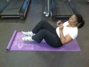 CRUNCH TIME: Mo'Nique includes strength training in her fitness regimen for a healthy core and frame.