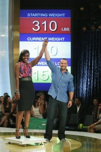Charita Smith with celebrity trainer Chris Powell, who helped her drop from 310 to 160. (Photo: ABC)