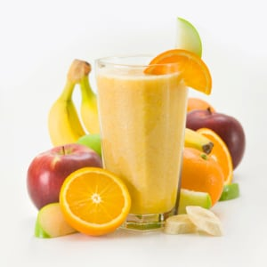 Freshly made fruit smoothies