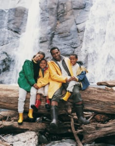 "This family visited a nearby waterfall on their ""staycation."" (Photo: Chris Robbins/Getty Images)"