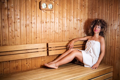 BPA and phthalates leave your body through perspiration, so get moving and make use of a sauna or steam room if you have one at your gym. (Photo: BraunS/Getty Images)