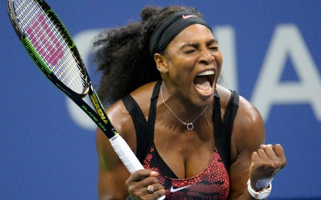 A Fan Celebrates a Milestone in Serena's Limelight