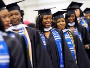 Recent graduates of Spelman College, whose alumnae range from Marian Wright Edelman, founder of the Children's Defense Fund Founder, to Rosalind Brewer, CEO of Sam's Club. (Photo: Creative Commons)