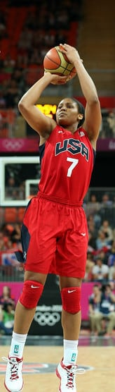 Maya Moore scores against the Czech Republic during the 2012 Olympics. (Photo: U.S. Olympics Committee)