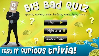 Big Bad Quiz game