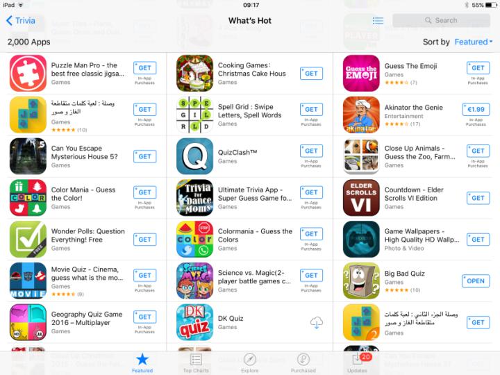 quiz app featured apple store