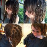 natural dreads are 6 months old and lengthened with synth hair - I also did a little bang shaping