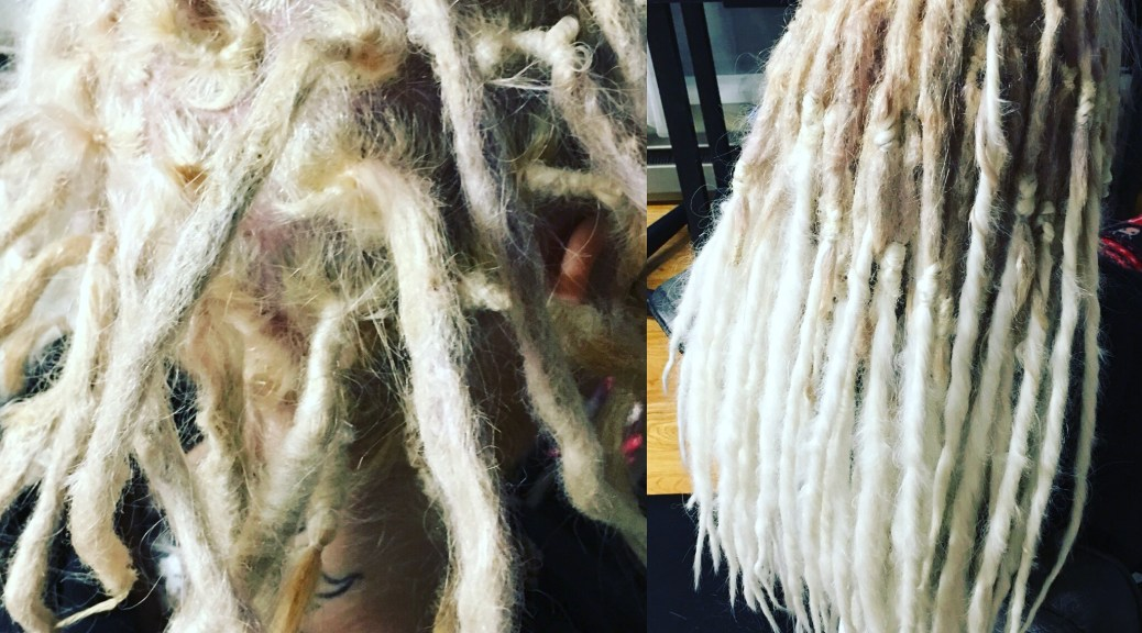 fiercelocks creates length on natural dreads with special skill-set, synth hair and pinchbraid technique