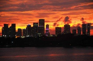 Miami at dusk by Bryan Sereny