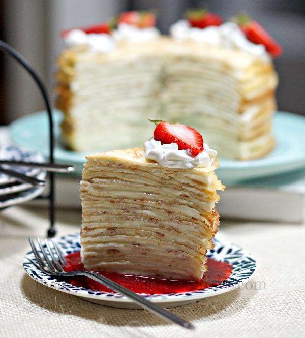 Mille Crêpe Cake   FiestaFriday.net