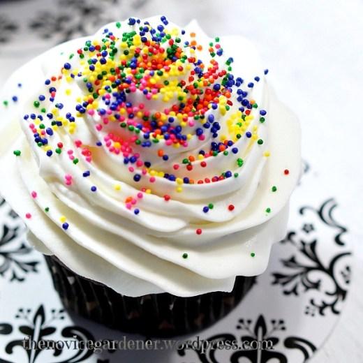 rainbow sprinkles cupcake