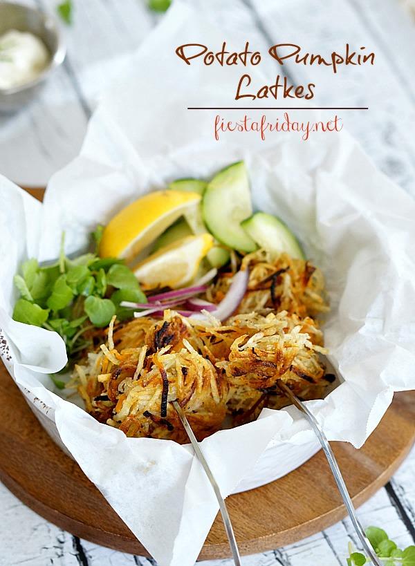 potato pumpkin latkes | fiestafriday.net