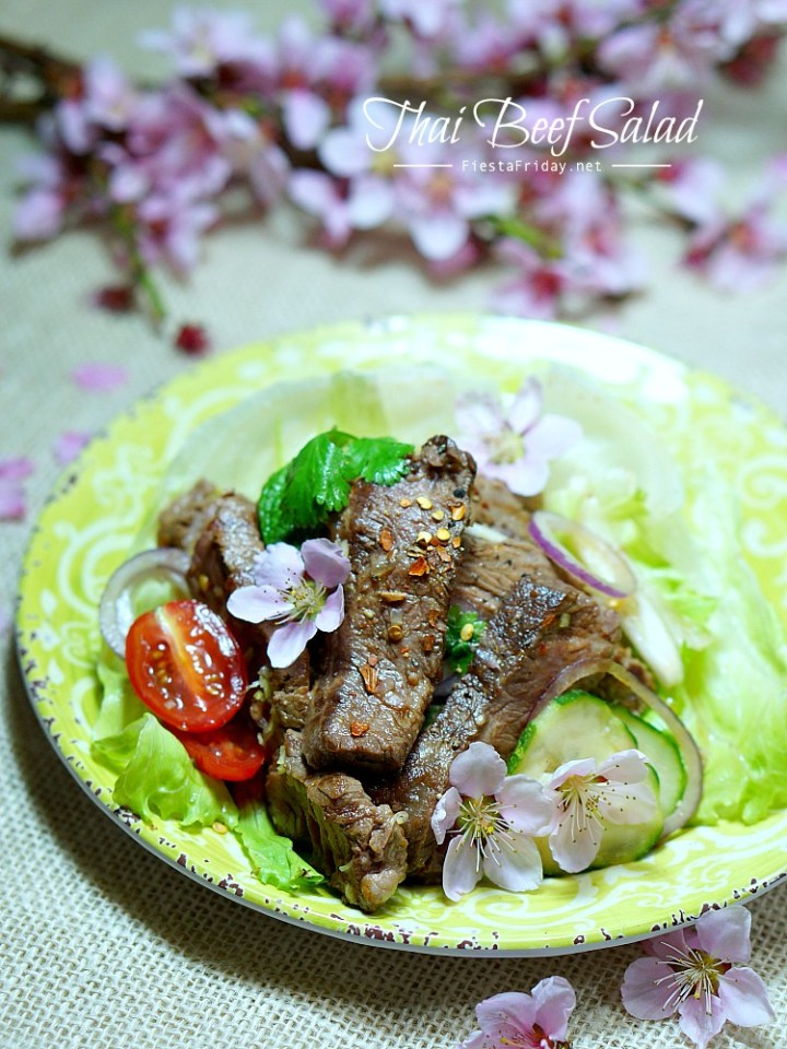 thai beef salad | fiestafriday.net
