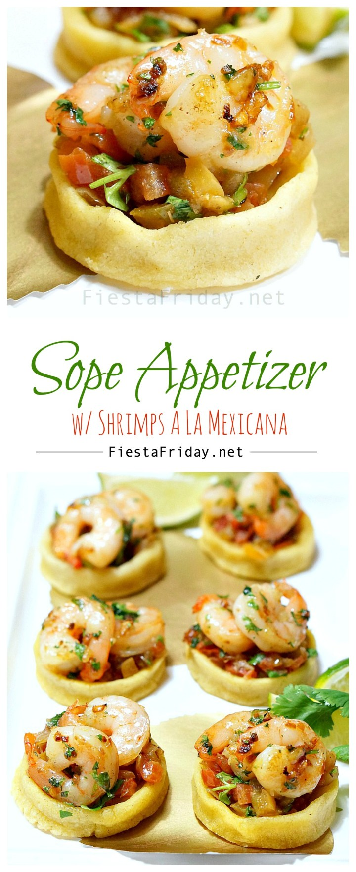 sope appetizer with shrimps a la mexicana | fiestafriday.net