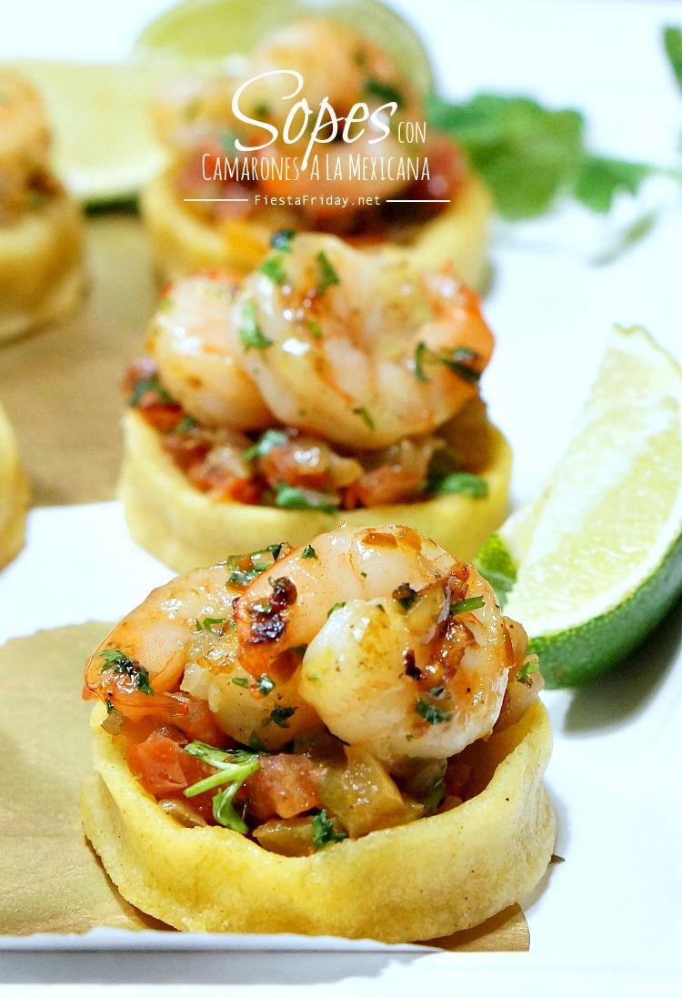 sopes con camarones a la mexicana | fiestafriday.net