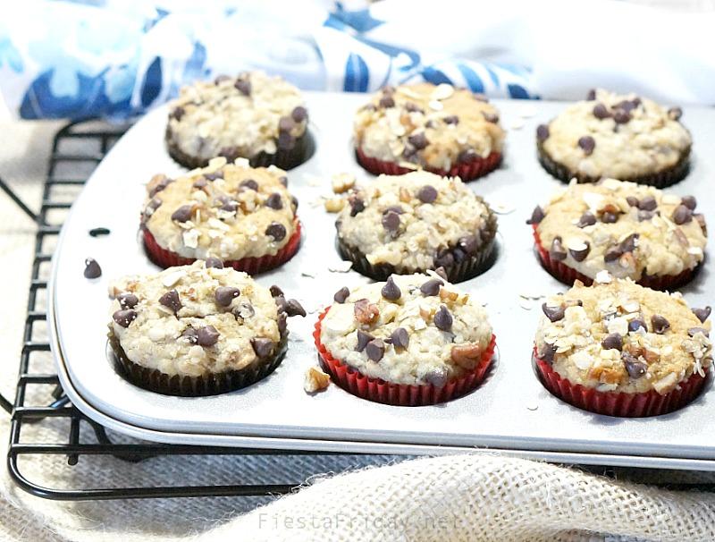 makeover oatmeal banana nut muffins | fiestafriday.net