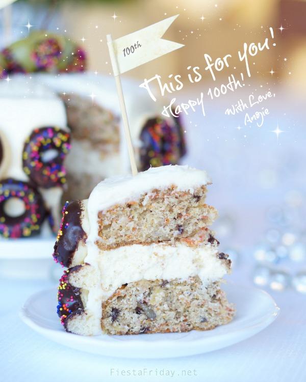 Carrot Cheesecake Cake for FF100   fiestafriday.net