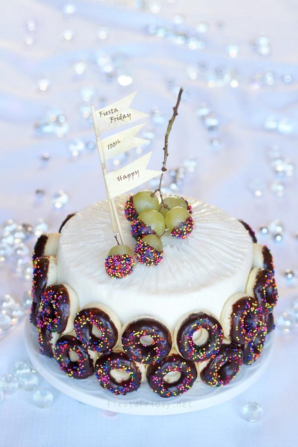 Donut Anniversary Cake   fiestafriday.net