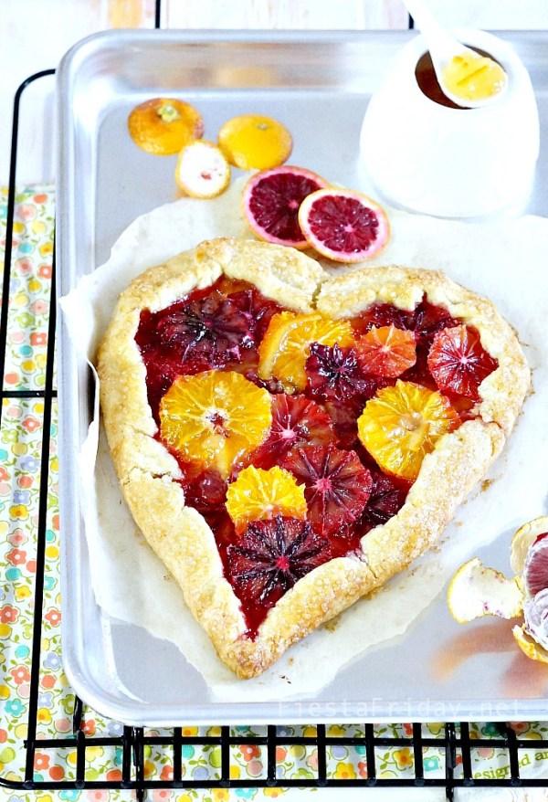 Blood Orange Tart | FiestaFriday.net