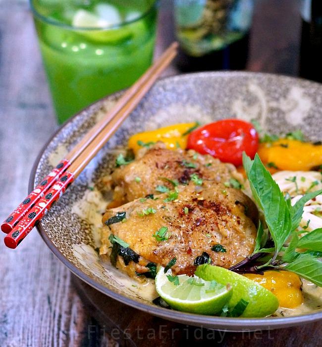 Thai-style chicken curry   FiestaFriday.net