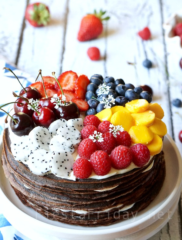 chocolate-crepe-cake-with-summer-fruits
