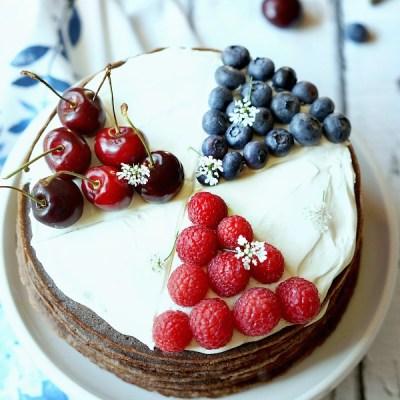 Chocolate Cheesecake Crepe Cake