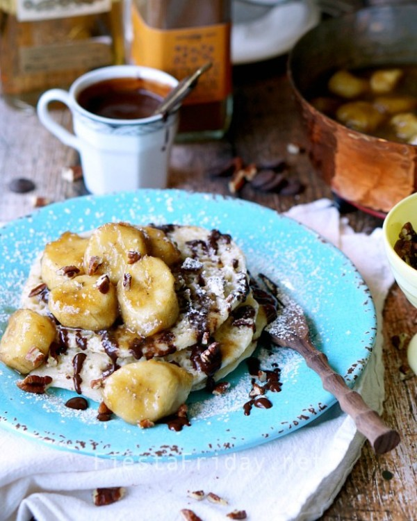 baghrir-pancakes-with-banana-flambe | fiestafriday.net