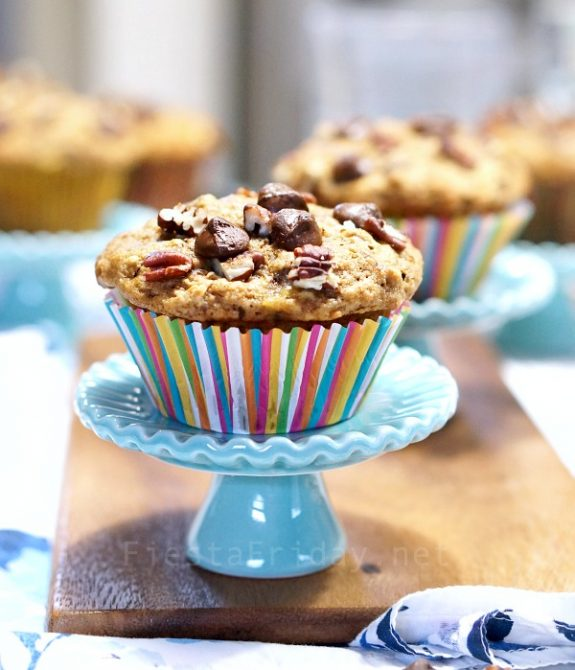 Espresso Chocolate Chip Banana Nut Muffins
