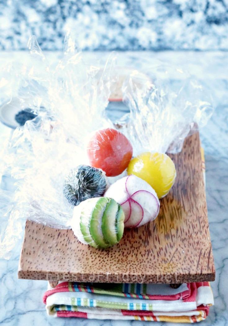 Making Temari Sushi Balls | FiestaFriday.net