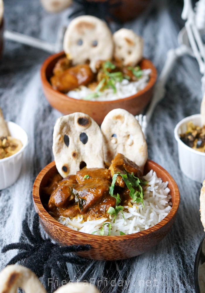 Halloween Butter Chicken | Fiestafriday.net