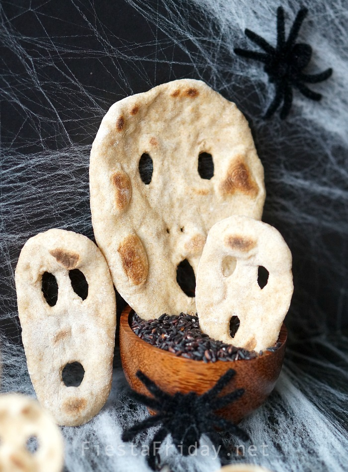 Halloween Naan Bread | FiestaFriday.net