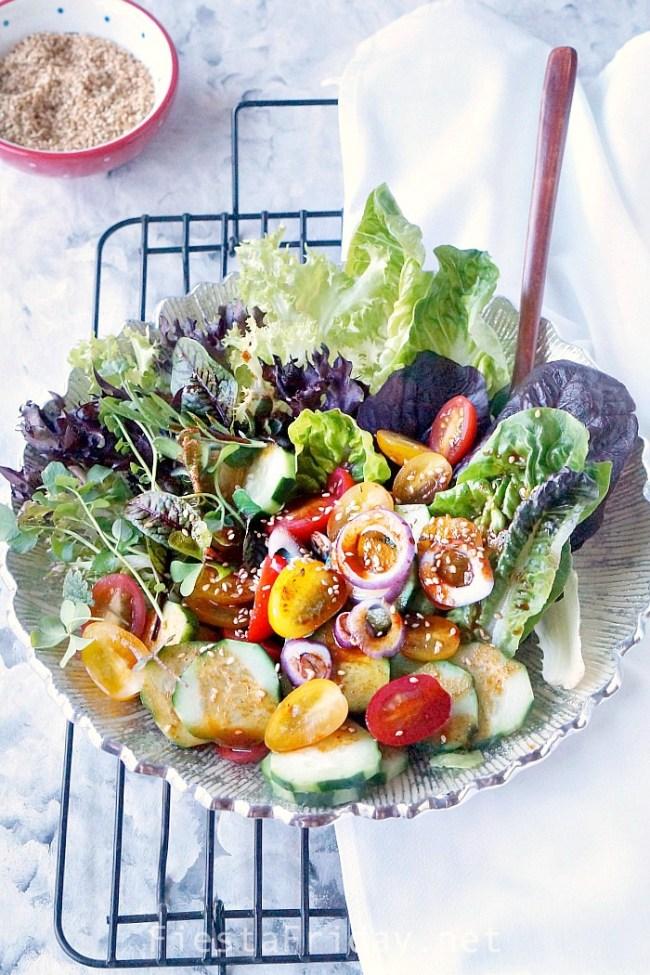 Korean Lettuce Salad | FiestaFriday.net