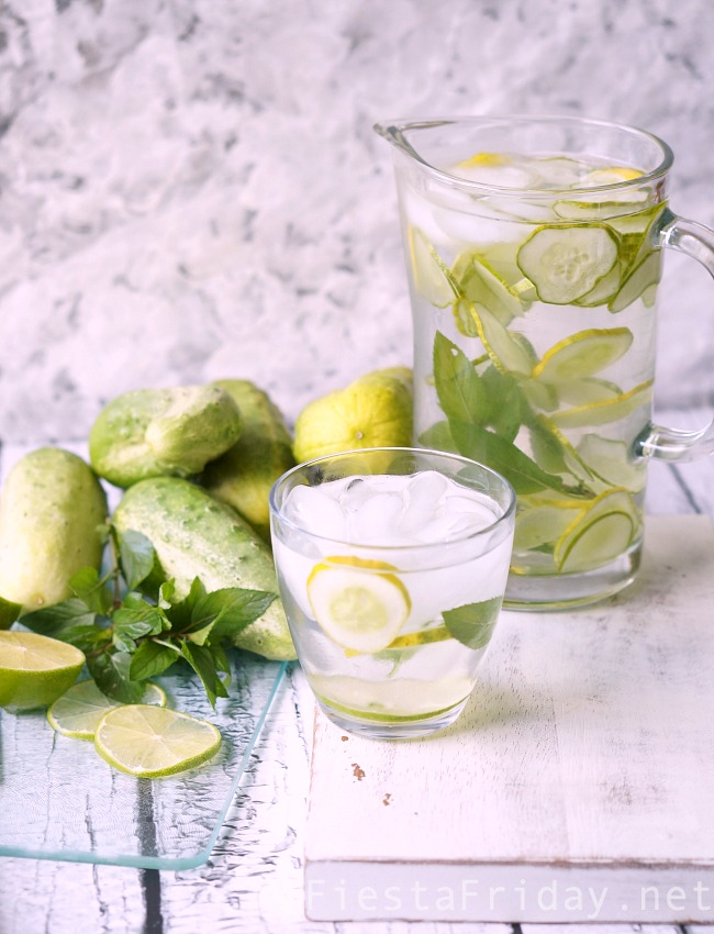 Cucumber Water | Fiesta Friday.net