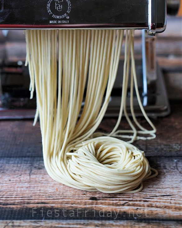 How To Make Homemade Chinese Noodles | FiestaFriday.net