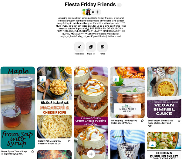Fiesta Friday Friends Pinterest Group Board