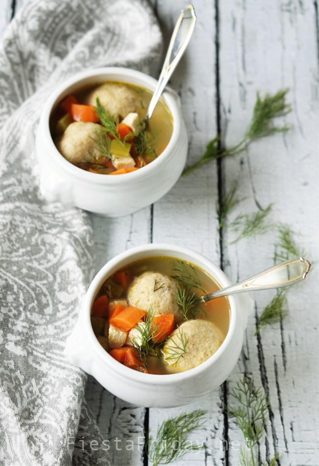 Matzo Ball Soup | FiestaFriday.net